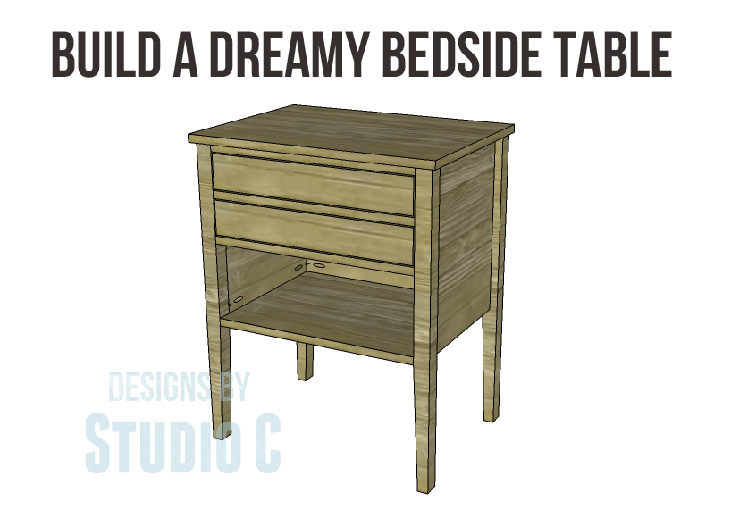 Build a dreamy bedside table for Build a bedside table