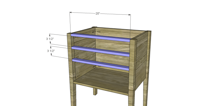 Free Plans to Build a Wisteria Inspired Dreamy Bedside Table_Front Stretchers