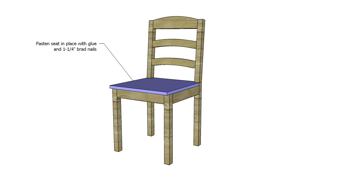 Free plans to build a dining chair 1 designs by studio c for Dining chair design ideas