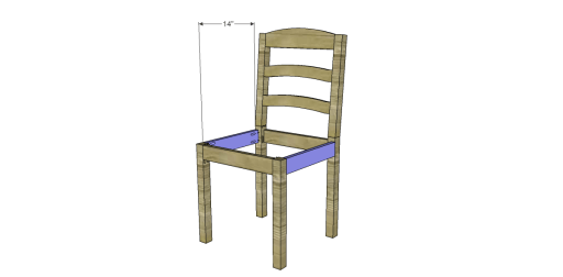 Free Plans to Build a Dining Chair 1_Stretchers