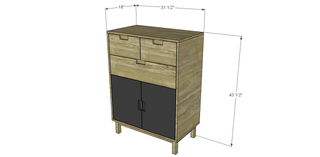 Free Plans to Build a CB2 Inspired Stash Chest