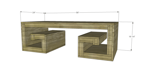 free plans to build a horchow inspired key coffee table |
