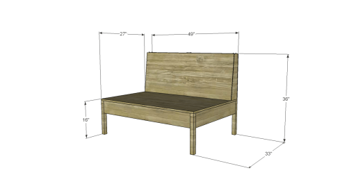 Joss & Main Inspired Teahouse Loveseat (no upholstery shown)