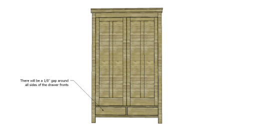 Free Plans to Build a 19th Century American Wardrobe_Drawer Fronts