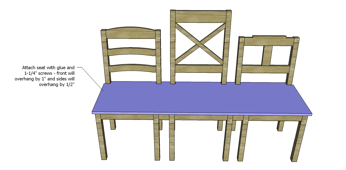 Build a dining chair bench designs by studio c for Free dining chair plans