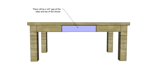 Free Plans for a Joss & Main Inspired Lodge Coffee Table_Drawer Front