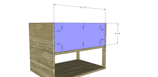 Free Plans to Build a One Kings Lane Inspired Harrison End Table_Back