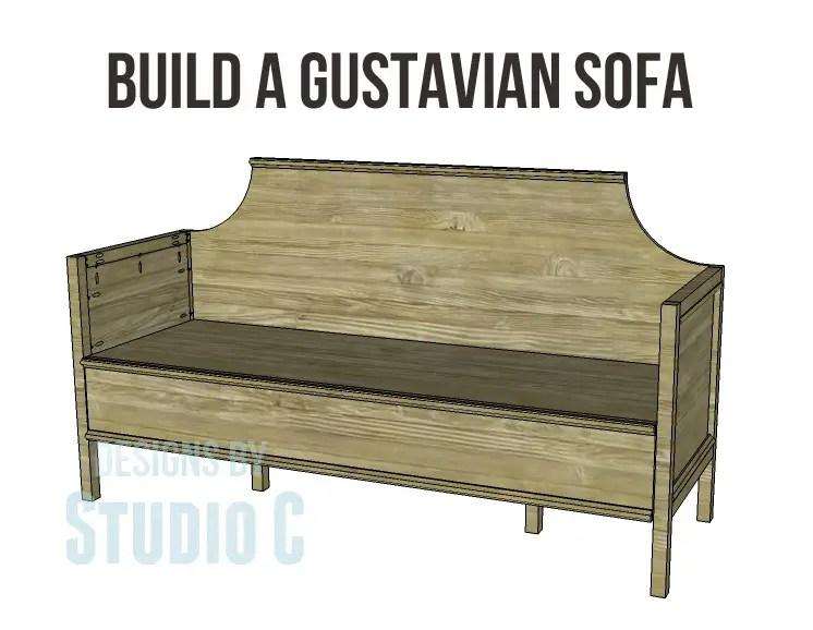 Build a gustavian sofa designs by studio c for Build a sofa