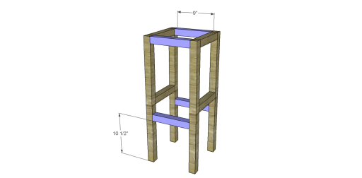 Free Plans to Build Napa Style Inspired American Barnwood Stools_Stretchers