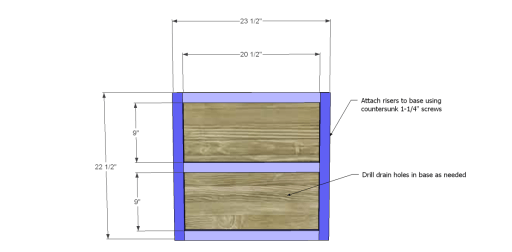Free Plans to Build Robin's Planter Boxes_Base & Bottom