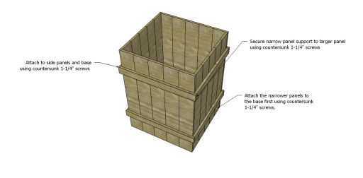 Free Plans to Build Robin's Planter Boxes_Panels 2