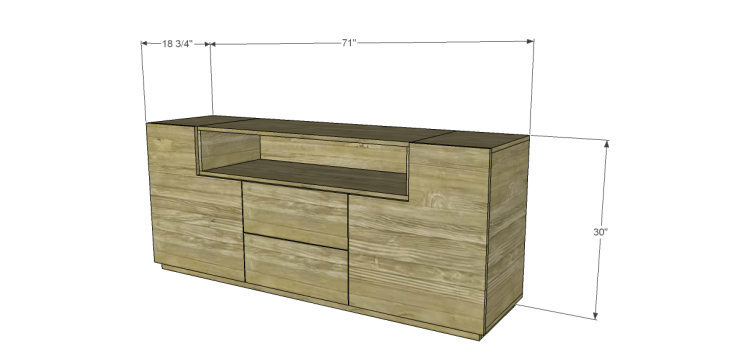 Free DIY Plans to Build a One Kings Lane Inspired Trix Media Cabinet (Large)