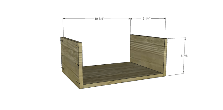 Free DIY Plans to Build a One Kings Lane Inspired Trix Media Cabinet (Large)_Drawer BS