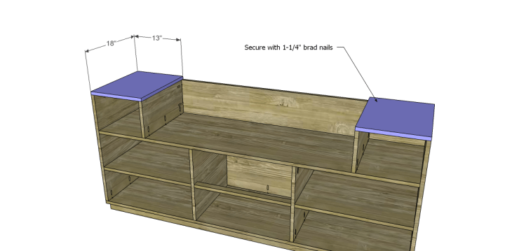 Free DIY Plans to Build a One Kings Lane Inspired Trix Media Cabinet (Large)_Tops