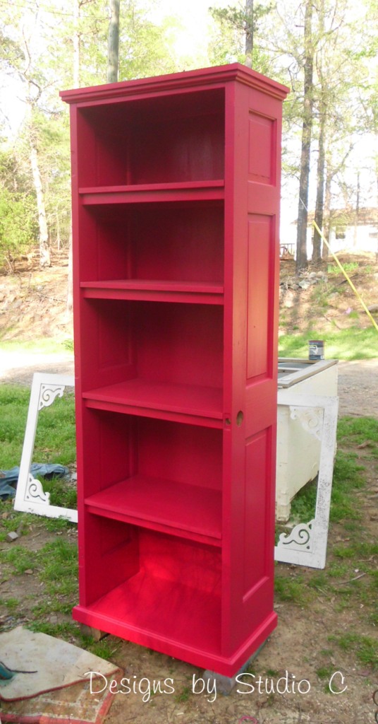 A Collection of DIY Plans to Build Bookcases_Old Door Bookcase