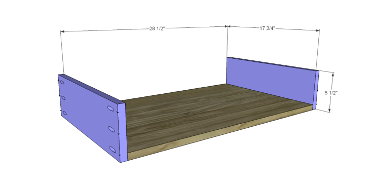 free plans to build a world market inspired ross coffee table _Drawer BS