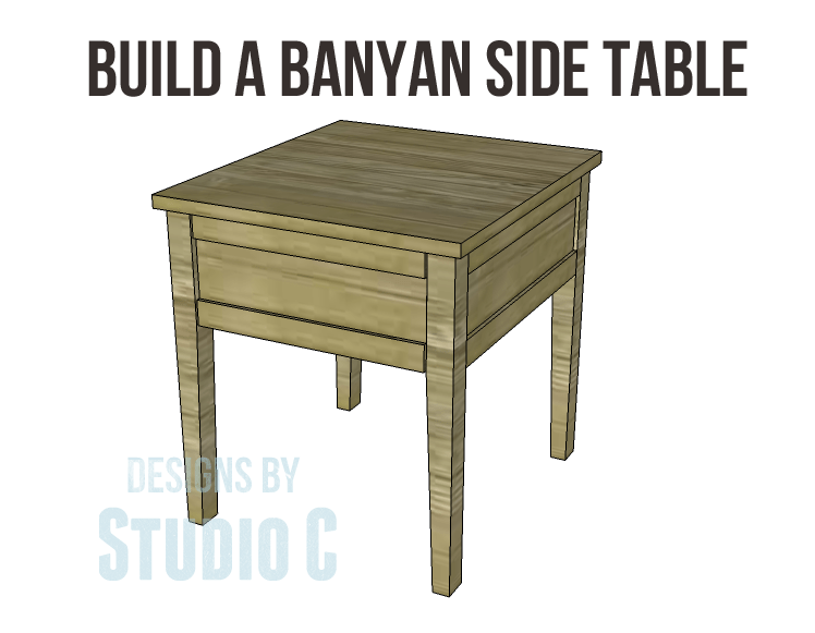 Free Plans To Build A Joss Main Inspired Banyan End Table - How to build an end table