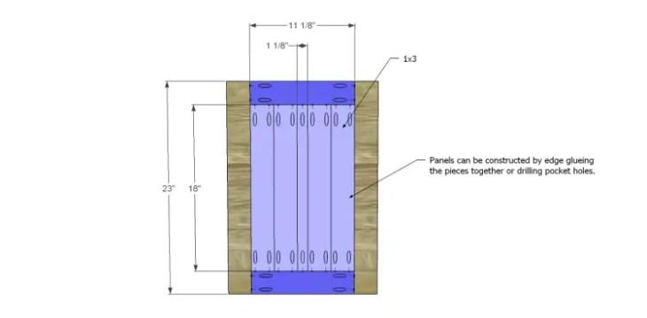 free plans to build a world market inspired garner sideboard_Doors 1