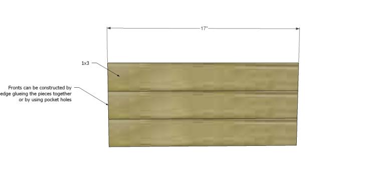 free plans to build a world market inspired garner sideboard_Drawer Fronts 1