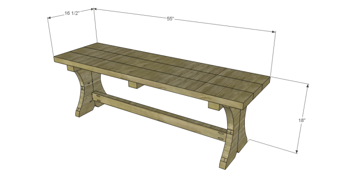 DIY Plans to Build Outdoor Furniture_Curvy Bench