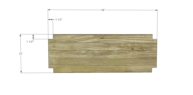 free plans to build an ll bean inspired large bench_Shelf 1