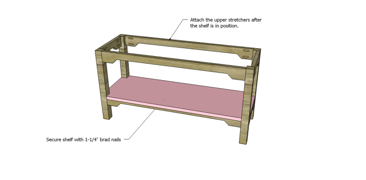 free plans to build an ll bean inspired large bench_Shelf 2