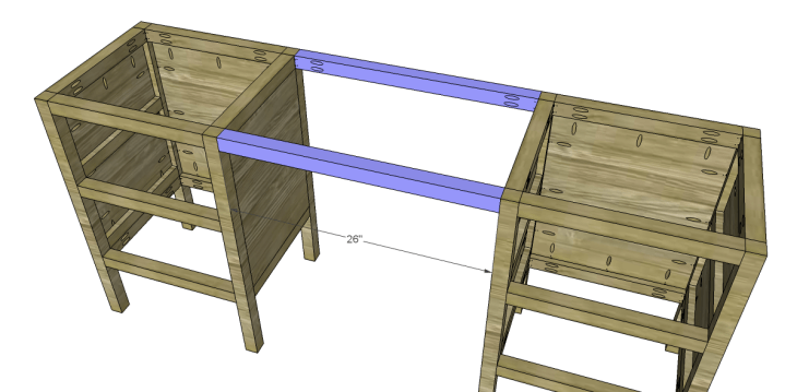 free plans to build a sereno desk_Stretchers