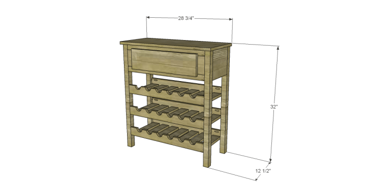free plans to build a joss main inspired julius wine table