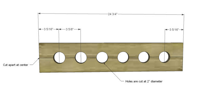 free plans to build a joss main inspired julius wine table_Bottle Shelf Fronts 1