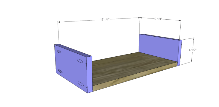 free plans to build a joss main inspired julius wine table_Drawer BS