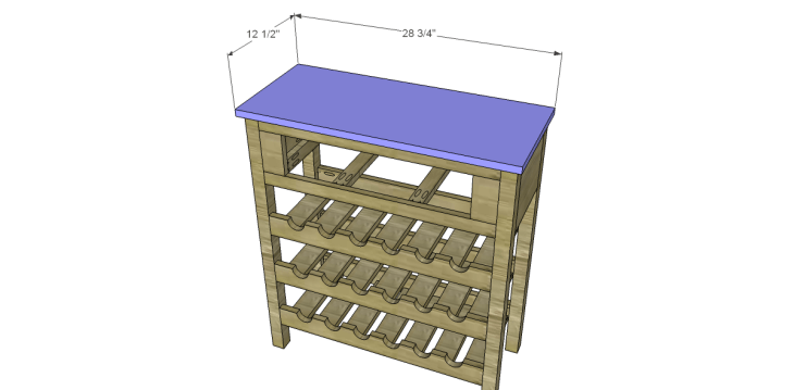 free plans to build a joss main inspired julius wine table_Top