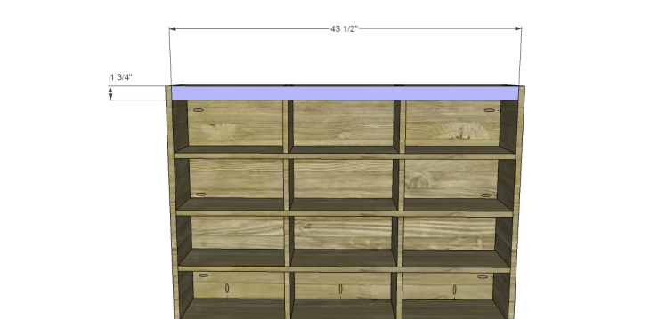 free DIY woodworking plans to build a Nantucket Chest_Stretcher