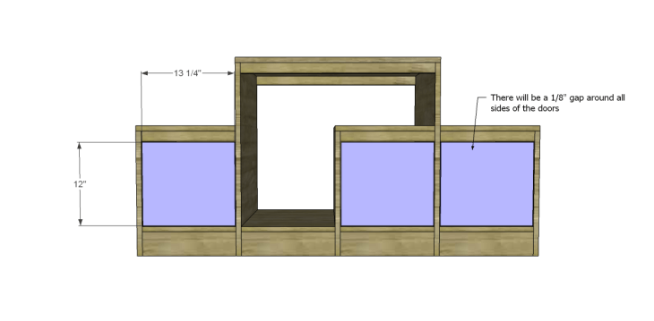 free plans to build a marconi media console_Doors