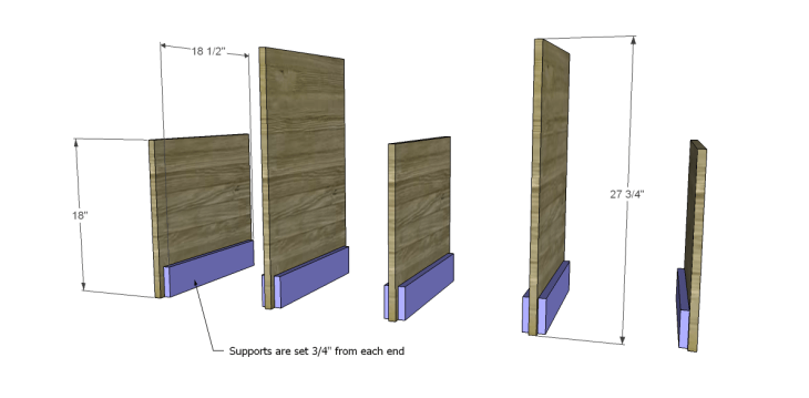 free plans to build a marconi media console_Sides & Supports