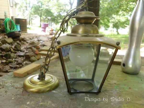 brass light fixture DIY update SANY2289