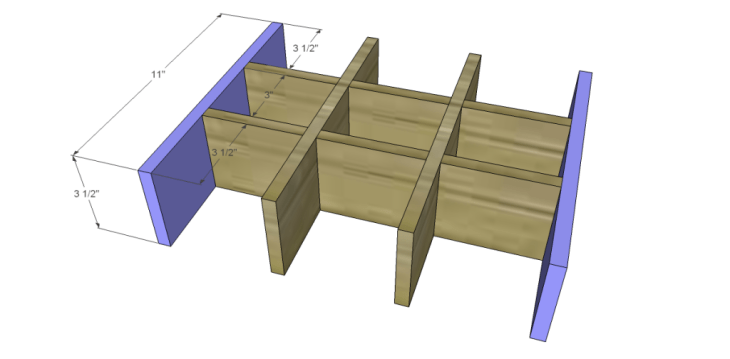 free DIY woodworking plans to build a saint-emilion tray_Divider Ends