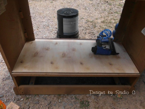 How to Revamp an Old Console TV Cabinet 6