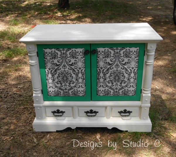 How to Revamp an Old Console TV Cabinet 1