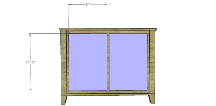 free DIY woodworking plans to build a two door sideboard_Doors