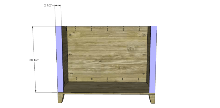 free DIY woodworking plans to build a two door sideboard_Front