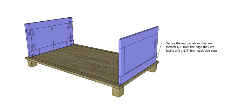 free DIY woodworking plans to build a paneled trunk_Ends 2