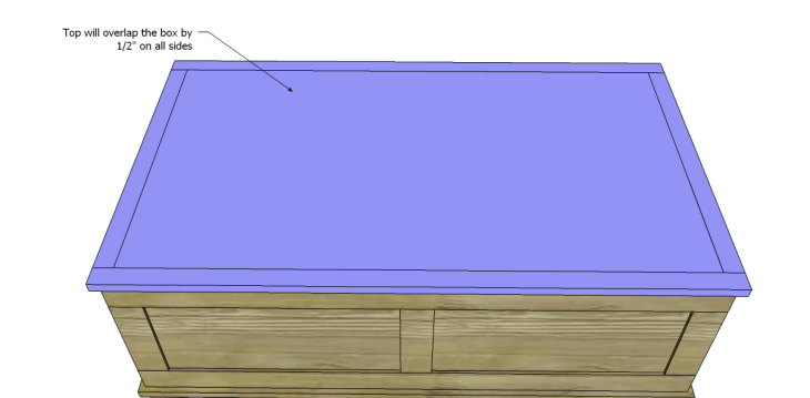 free DIY woodworking plans to build a paneled trunk_Top