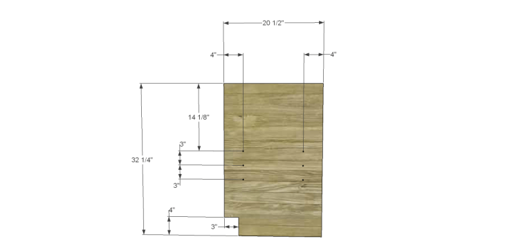 free DIY woodworking plans to build a custom bath vanity_Sides