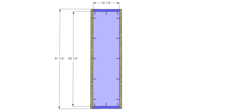 free DIY woodworking plans to build a large armoire_Doors 1