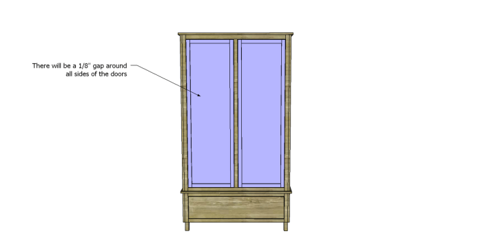 free DIY woodworking plans to build a large armoire_Doors 2