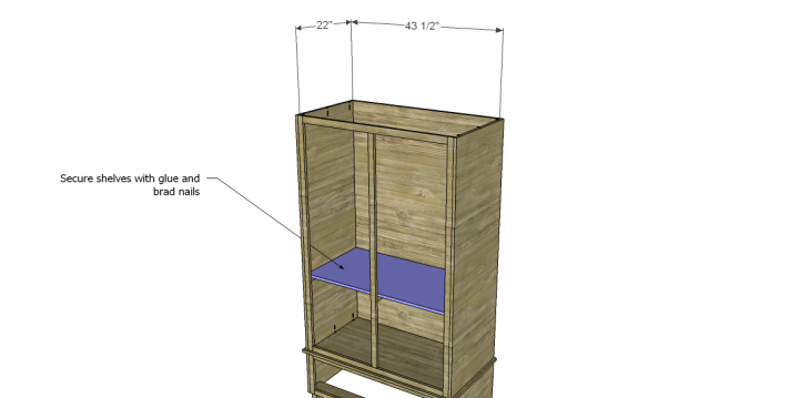 free DIY woodworking plans to build a large armoire_Shelves 1