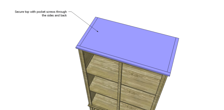free DIY woodworking plans to build a large armoire_Top 2