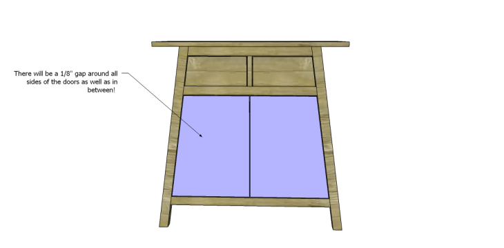 free DIY woodworking plans to build an asian style cabinet _Door 2