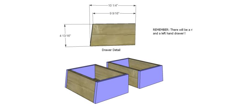 free DIY woodworking plans to build an asian style cabinet _Drawer FB