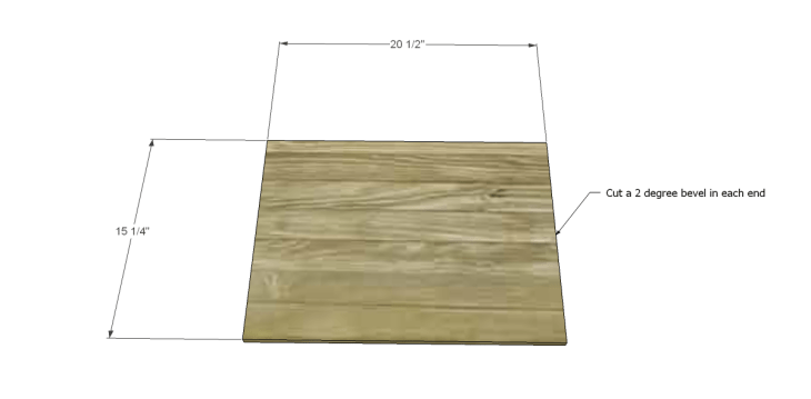 free DIY woodworking plans for a plywood multi use crate_Bottom